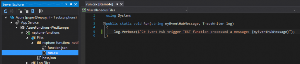 azure-function-visualstudio